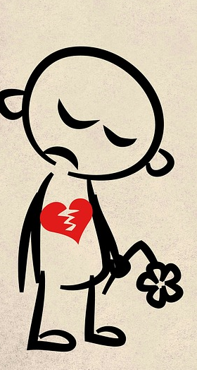 tristeza ruptura corazón